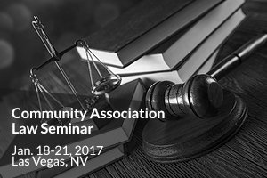 2017 Community Association Law Seminar